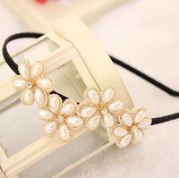 Wholesale Factory A036 New South Korean manufacturers selling sweet pearl Flower Lace diamond hoop Hair Headdress Headbands Hot