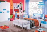 beds and wardrobes - Blue Boy Girl Furniture Bedroom Furniture Set bed desk wardrobe and cabinet set wood furniture MYL8808
