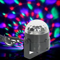 Wholesale 3W RGB Full color magic crystal mini stage Auto Rotating Lamp Voice activated light for christmas party KTV Festival Birthday etc