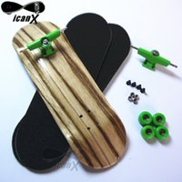 bearing truck - MM ICANX Zebra Wooden Deck Finger Skateboard Alloy Trucks Fingerboard Bearing Wheels NINI Finger Board Skateboard