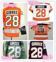 Wholesale 2016 Philadelphia Claude Giroux Jersey Orange C New In stock Best Stitched Claude Giroux Camo Green Jerseys Cheapest