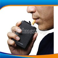Cheap Good Quality Automatic Ejection Cigarette Case Refillable with Butane Lighter Windproof Frosted Cigar Packet Box