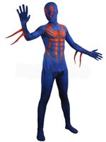 Wholesale Spiderman Costume D Printed Zentai Lycra Spandex Full Body Cosplay Costume