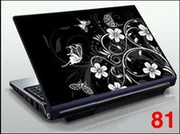 Wholesale Black Flower Trakcing number quot quot Laptop Computer Vinyl Skin Sticker Protective Cover Art Decal