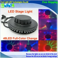 Wholesale full Color RGB LED Mini Auto Voice activated Rotating Light Wall Lighting Christmas Studio Club Party DJ Disco Bar