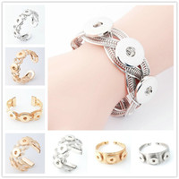 Wholesale NOOSA Metal Snap Button Charm Bracelet Interchangeable Jewelry Ginger Snaps Jewelry Fashion DIY jewelry for women