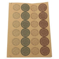 Wholesale Customized Self adhesive Kraft Label For DIY Hand Made Food Cake Candy Paper Tags