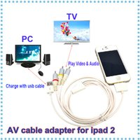 audio video sync - AV TV audio amp video RCA cable adapter USB data sync Charger Cable for iPhone iPod iTouch for ipad G