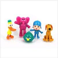 Wholesale 5pcs set Cartoon Pocoyo Zinkia Toys Dolls PVC Action Figures Child Toys DH04