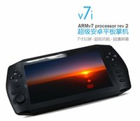 Wholesale 7 inch Touch Screen Android Game Console Tablet Game Pad G storage wifi portable Dual Camera Game player