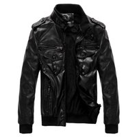 Wholesale winter jacket men s leather clothes high quality pu leather jacket men leather coat with long sleeves new