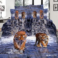 bedding set fabric - 3D Wolves Printing Bedding Sets Cotton Fabric Comforter Set Duvet Cases Pillow Covers Flat Bed Sheet Home Textiles King Queen Full Size