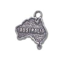 australian map - Antique Silver Plated Australian Map Charms Symbol Word Map Pendant DIY Women Girl Jewelry