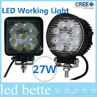 Wholesale 1800LM W High power X W Bead LEDs working light Square Offroad LED car Work Light bar
