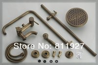 antique glass bath - good antique brass rain bath shower faucets mixer set low price for promotion fast delivery years guarantee waterfall glass w