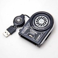 Wholesale Mini Flexible Vacuum Air Extracting USB Cooler Cooling Fan for Notebook Laptop Accessories Computer Peripheral
