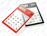 Wholesale New ultrathin solar transparent calculator exotic products retailer droppi
