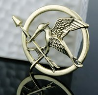 Wholesale 1000 High quality Hot Movie Hunger Games Bird Brooch Pins For Women And Men