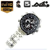 Wholesale 8GB P SPY HIDDEN Camera Video Mini DV DVR Steel Wrist Watch Night Vision GX