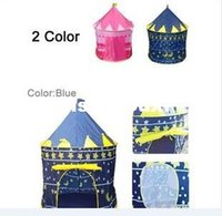 Wholesale children tents blue play palace kids baby tent castle child prince Children s cubby house toy