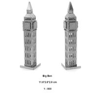 Wholesale Stainless Steel Big Ben DIY D Metal Works Puzzle Model Toys For Children Adult Game