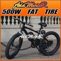 Wholesale In Stock Addmotor Speed Electric Bicycle Inch Fat Tire Bike Mountain Beach Snow Road