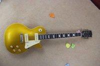 al por mayor electric pickup-Guitarra eléctrica de la recolección P90 de la recolección LP + guitarra eléctrica del arce superior de la tapa de la llama del goldp estándar del lp