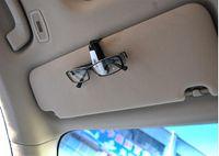 Al por mayor de la ingeniería Baratos-100pcs / lots de plástico ABS de ingeniería del coche Accesorios para el vehículo Visera de sol gafas de sol de los vidrios del ojo pluma de la tarjeta del clip del sostenedor