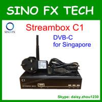 Wholesale Cable TV receiver Singapore DVB C set top box Streambox C1 Starhub tv box supports IPTV CC CAM Newcam MGCAM XCAM OSCAM factory
