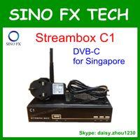 al por mayor dvb-c receiver-Receptor de TV por cable Singapur DVB-C set top box Streambox C1 Starhub tv caja apoya IPTV CC CAM Nueva cámara MGCAM XCAM OSCAM fábrica al por mayor