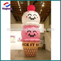 Wholesale m feet inflatable ice cream cone with led light for advertising