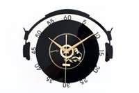 analog music recording - Music Element Clocks Stereo Gramophone Record Watch Wall Art Watch Wall Vintage Home Decoration Multi Colors GZ88161
