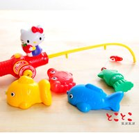 Wholesale Japan imported genuine hello kitty electric fishing playsets magnetic fishing method