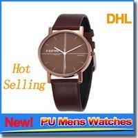 animal watch straps - Stylish Fashion Couple Watches Men Women PU Strap Cheap Watch Quartz Simple White Black Wrist Watches