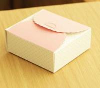 Wholesale 50 Mini Paper Cake Box Christmas Wedding Box For Macaron Gift Bakery Cookie Favor Cupcake Chocolate Packaging TB38