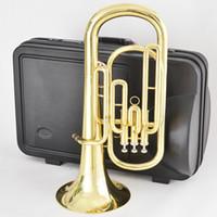 Wholesale NEW Brass Super BARITONE TUBA PISTON HORN Baritones With case