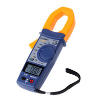 ac temperature meter - LCD Screen Temperature Measurement Multimeter Digital Clamp Meter AC DC Capacitance Resistance Current Voltage Meter E0680