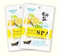 aromatherapy bath salt - Lemon bath salts Deep pore cleansing aromatherapy SPA bath salt to rub salt model g bag