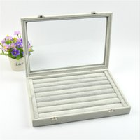 Wholesale Cheap Different Styles Jewelry Bridal Wedding Storage Boxes For Rings And Necklace Grey Boxes