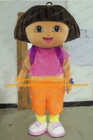 adult dora mascot - Sweet Brown Dora Girl Mascot Costume Mascotte Dora The Explorer Lassock Adult With Big Bright Eyes Happy Face No Free Ship