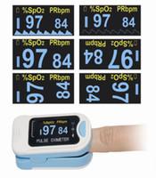 venda por atacado finger oximeter-Novo OLED CMS50N dedo ponta oxímetro de pulso sangue oxigênio Spo2 pr + caso grátis
