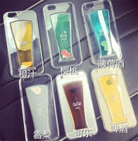 apple cola - Iphone Plus Cases Liquid Juice Cola Phone Cover Fashion Hard PC Colorful Protective Coverings For Iphone S Plus Hot