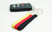 audi key rings - Sporty RS Logo Canvas Key Ring Styling Metal Germany Flag Keychain Keyring for Audi A3 A4 A5 A6 A8 TT Q5 Q7
