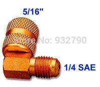 Wholesale AC Car R410a Refrigeration Adapter Connector Adaptor M1 sae F5 For R410a Gauges Hoses Vacuum Pump Adaptor HVAC System New order lt no tr