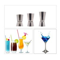 Wholesale Stainless Steel Bar Jigger Cocktail Bartender Drink Mixer Liquor Measuring Cup Set Kit