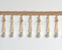beaded curtains - Handmade Trim Beaded Lace Sewing Curtain Border Tape meter