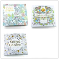 Wholesale 3PCS English Edition Secret Garden Fantasy dream Animal Kingdom Coloring Book Adults Colouring Book Each Book Pages