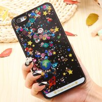 beads plastic cover - i6 S Colorful Bling Beads Dynamic Liquid Case For iPhone S Cute Cartoon Clear Transparent Hard Phone Accessories Cover