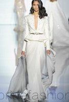 Cheap 2015 Elegant Evening Gowns Deep V Neck Peplum Formal Dresses Sexy Sheath Prom Dresses Waist Evening Dress Sweep Train
