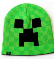Wholesale New Cartoon Minecraft JJ Monster Creeper Enderman Ender Toy Hat Kids Hats Warm Caps Hats Christmas Gift For Baby Boy Girl Children